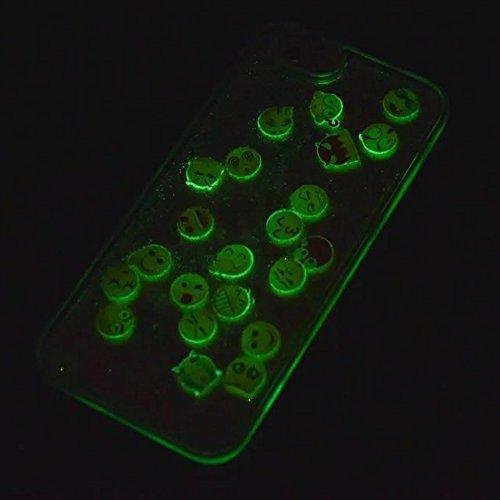 Noctilucent Coque en Silicone Souple pour Apple iPhone 6 / 6s 4.7 pouces - Aohro 3D Unique Emoji Mode Transparente Liquide Étui Housse de Protection Back Case Cover - Argent Violet - Rigide Coque