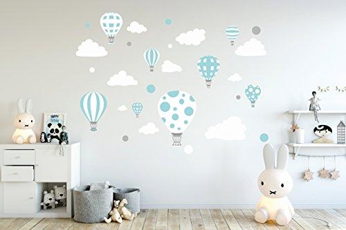 Etiqueta de la pared Pegatinas de pared Pegatinas para niños globo globos nubes nube Habitación para niños salón jardín de la infancia escuela decoración Sala de estar