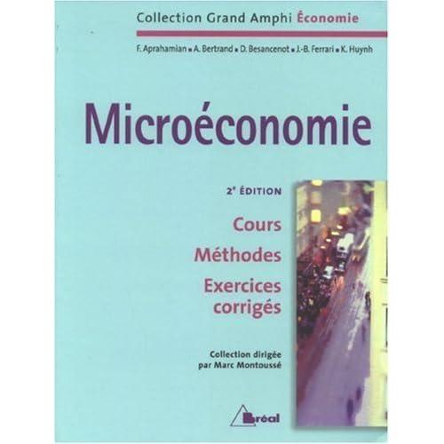 Microéconomie de Marc Montoussé (5 septembre 2007) Broché