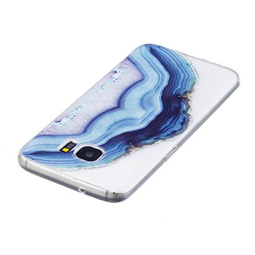 Custodia Samsung Galaxy S7 Edge, Galaxy S7 Edge Cover, Galaxy S7 Edge G935 Custodia Trasparente, JAWSEU Lusso Diamante Scintillio Bling Dura di Plastica Hard Cover Custodia per Samsung Galaxy S7 Edge  Acqua di mare #2