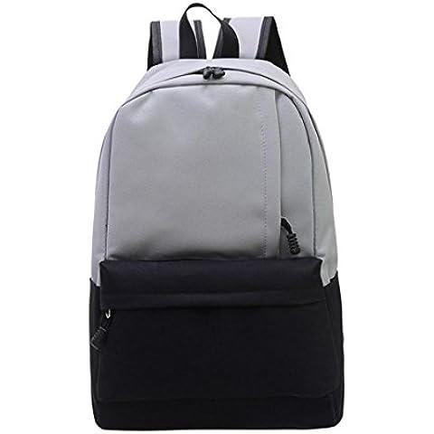 Clode® Unisex Vintage lona morral mochila Colegio Mochila bolsa mochila de senderismo