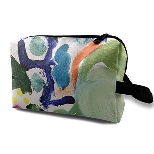 Kosmetiktaschen 18-06E Sophia Rainbow Abstract # 1 3705 Tragbarer Reise-Make-up-Veranstalter Multifunktions-Taschen für Frauen - Abstract Tröster