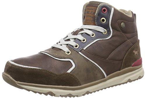 Mustang High Top Sneaker, Sneakers Hautes homme Marron (32 Dunkelbraun)
