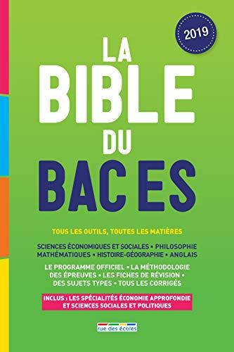 La Bible du Bac ES par  (Broché - Jan 9, 2019)