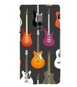 Guitar pattern Back Case Cover for One Plus Two::One Plus 2::One+2