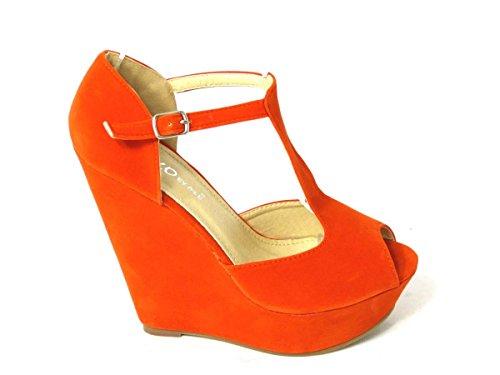 SKO'S , Talons compensés femme Orange (Vicky)