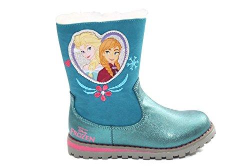 Disney Frozen Anna Elsa/filles cœur avec doublure en fourrure neige d'hiver Bottes Taille Bleu - bleu