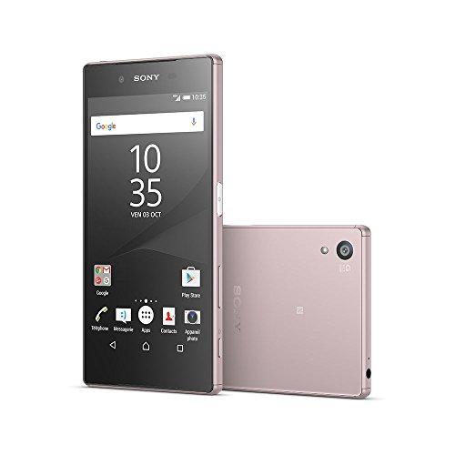 Sony XperiaZ5R-Smartphone libre de 4 g pantalla  5 2  32 GB  SIM Simple  Nano  rosa  importado