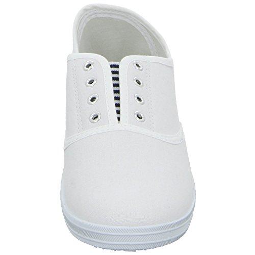 Sneakers 31.835.2.9 Damen Leinen Slipper/Kletthalbschuh Weiß (Weiß)