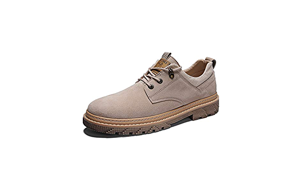 Yuanzhiws R/étro Style Toe Oxfords Hommes Casual Chaussures /à Lacets Marche en Cuir synth/étique Caoutchouc Semelle ext/érieure pour Gentleman /él/égant Couleur : Marron, Taille : 39 EU