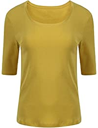 Womens Ladies M/&S 100/% Pure Cotton Half Sleeve Scoop Neck T//Shirt  8-24