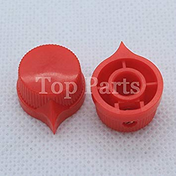 10PCS Red Set Screw Knobs for Tube Guitar Amp Effect Pedal Over Drive Mixer Cabinet Speaker Parts DJ 17 * 11mm