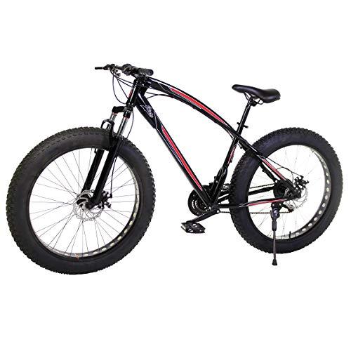 Riscko Bicicleta Fat Bike Todoterreno con Ruedas de 26x4 Pulgadas antipinchazos y Cambio Shimano (Negro)