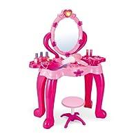 Vinsani Girls Princess Dressing Table Stool Play Set features Vanity Light & Music