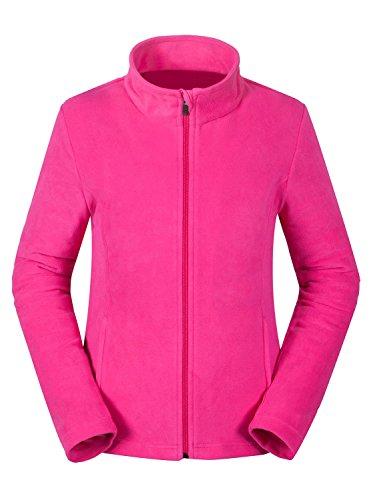 aparso Damen Fleecejacke Fleece Pullover atmungsaktiv warm (S, Pink) Damen Stretch Fleece Pullover