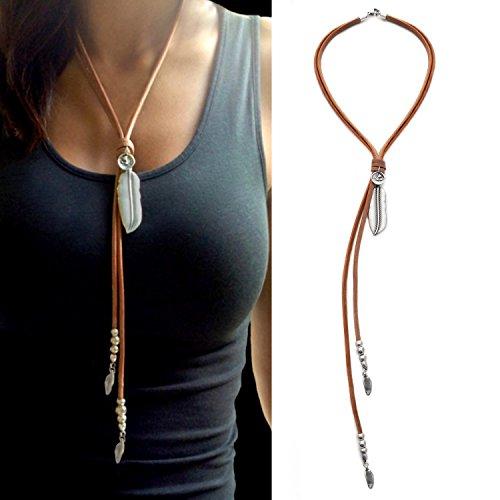 beau-soleil-jewelry-schmuck-lederkette-mit-anhanger-feder-und-munze-lederbandkette-ibiza-style-schmu