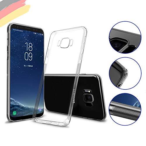 Hetcher Tech Hülle für Samsung Galaxy S8 transparent Silikon - Viele Vorteile - Handyhülle Schutzhülle für S8 - Liquid Slim Clear Case - Cover Bumper Ultra dünn