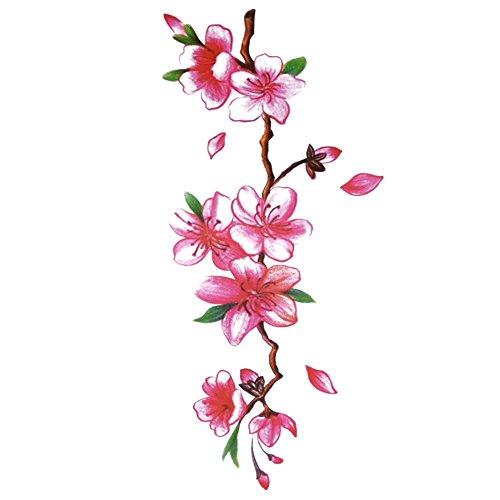 tafly-fleur-vigne-tatouages-temporaires-corps-art-transfert-autocollant-pour-femmes-5-feuilles