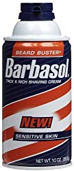 4 Pack - Barbasol Sensitive Skin Thick and Rich Shaving Cream, 10 Oz Each