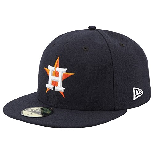 New Era Houston Astros Authentic 59FIFTY Fitted MLB Cap Home, 7 3/8 (Astros Baseball-mütze)