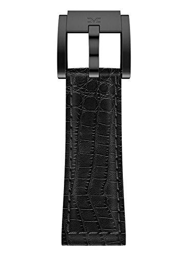 TW Steel Marc Coblen Armband Uhrenband Leder 22 MM Kroko schwarz LB_BK_K_B