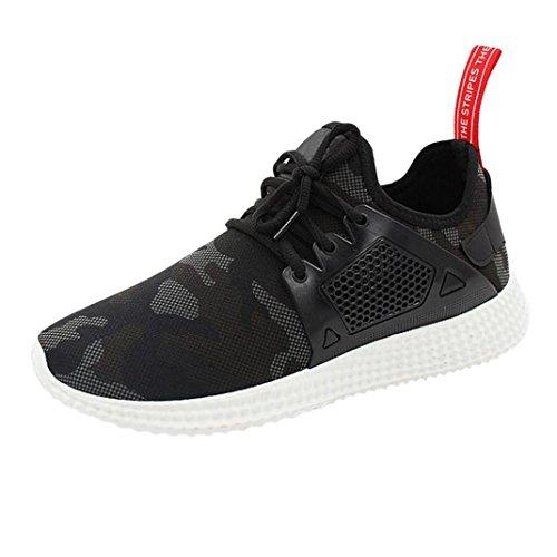 Uomo Sneakers Scarpe da Sportive Corsa Running Sport Sneaker Casual Outdoor Tennis Scarpe da Ginnastica (Asia 42, Nero)