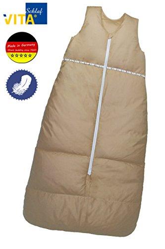 Preisvergleich Produktbild VitaSchlaf Daunenschlafsack mitwachsend made Germany 110-90cm Farbe camel uni