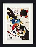 Vassily Kandinsky Poster De Collection Encadré - Deux Taches Noires, 1923 (40 x 30 cm)