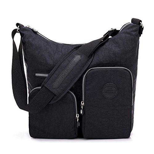 Outreo borse a spalla leggero borse da viaggio impermeabile borsa tracolla donna borsello sportiva sacchetto per scuola borsetta sport messenger bag