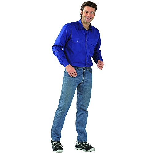 PLANAM - Köperhemd 1/1 Arm - Sportlich im Schnitt, ideal für jede Jahreszeit. dunkelblau
