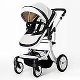 MINISU Infantile Baby Carriage Passeggino, Alta Paesaggio può sedersi Reclinabile Bici Pieghevole Bambino, Neonato 0-3 Anni Bambino BB Passeggino, A Viaggio