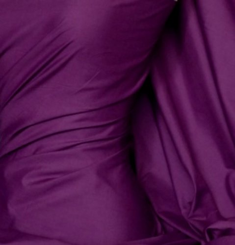 Fat Quarter einfarbig, Violett, von Polycotton Popeline Stoff Japanische QKT 4000Poly Baumwolle Material Fat Quarters Lavendel Uni Farbe Farbe Schneidern Shirts Kleidung Basteln (Fat Quarter Woven)