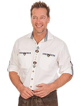 Trachtenhemd mit langem Arm - GERO - weiß