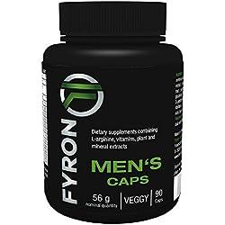 FYRON MEN's - 90 Capsule per Uomo / Fertilità - Livello di testosterone - Prodotto in Germania