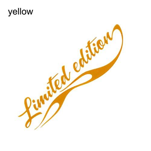 tonywu Auto Styling Limited Edition Aufkleber Lustige Auto Auto Aufkleber Abzeichen Aufkleber Auto Dekoration Schwarz/weiß/rot/gelb/blau gelb - Chrome Emblem Auto Limited
