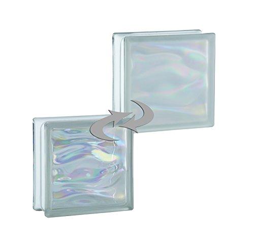 6-piezas-bm-bloques-de-vidrio-agua-perla-blanco-satinado-por-un-lado-vidrio-mate-19x19x8-cm