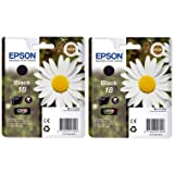 2x Original Genuine EPSON T1801 Ink Cartridges (Daisy) For Expression Home XP-102 XP-202 XP-205 XP-30 XP-302 XP-305 XP-402 XP-405 Inkjet Printers. Includes 10x FREE HP Advanced Glossy Photo Paper. Free delivery and VAT receipt with every order.