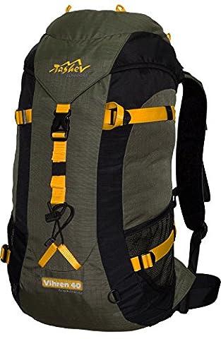 Wanderrucksack Daypack TASHEV VIHREN 40L Wasserdichter Rucksack nur 900g Grün Gelb