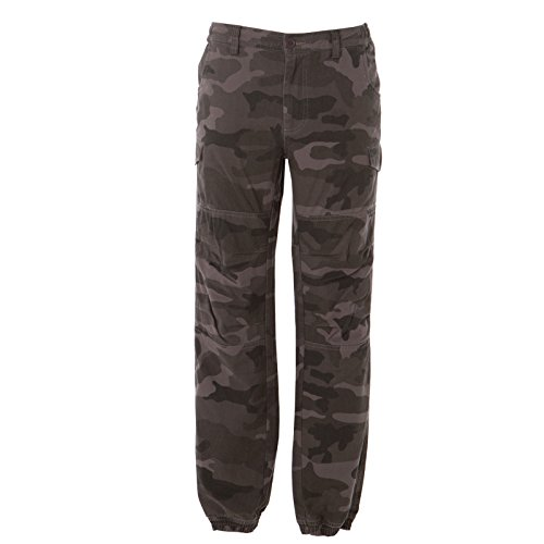CHEMAGLIETTE! Pantaloni Mimetici da Lavoro Multitasche Elasticizzati Caccia Softair JRC Kabul, Colore: Camouflage Grey, Taglia: L