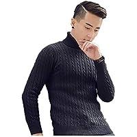 ZYZHJY Men 'S Sweater Suéter, Suéter De La Moda Camisa, Velvet Engrosada, De Gran Tamaño De Punto Suéter,Black,L