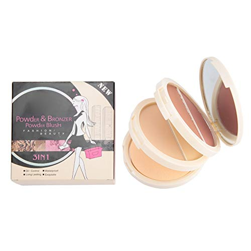 Blusher 3-In-1 Blush Puder Blush Face Blusher Women Pressed Powder mit Soft Puff Cosmetic -