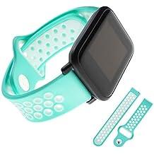 GROOMY 20mm Banda de Reloj de Silicona para Xiaomi Huami Amazfit Bip TICWATCH2 Gear Sport WELOOP