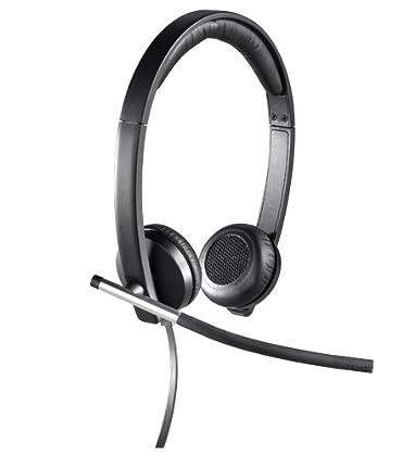Logitech H650e - Auriculares de diadema cerrado...