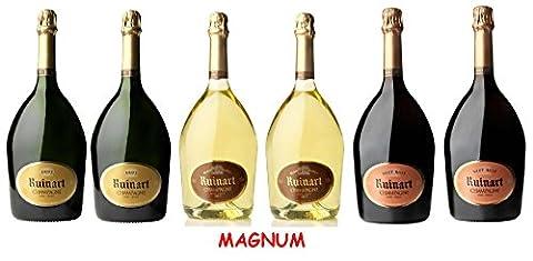 Lot Découverte 6 Magnum de Champagnes Ruinart 1.5L