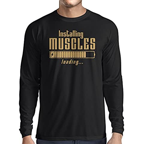 Langarm Herren t shirts Muskelarbeit Kleidung - für Muskelaufbau Meister,