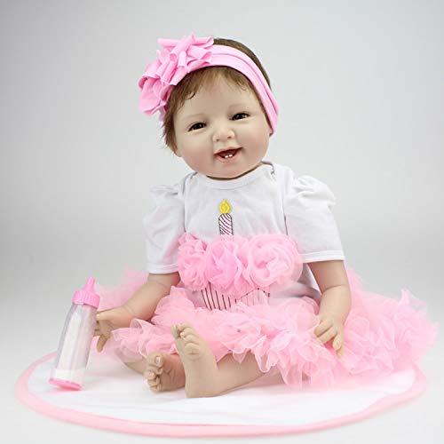 """FairytaleMM 22"""" muñeca bebé Realista Lifelike bebé Reborn recién Nacido Hechas a Mano con Suave del Silicón niños"""