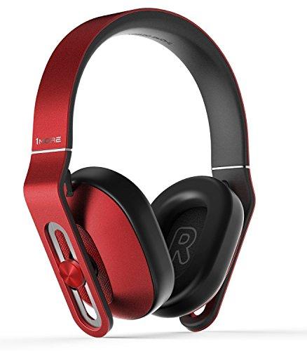 1MORE Over-Ear Kopfhörer mit Kabel Stereo Headset mit Mikrofon und Fernbedienung für iOS, Android Gräte und PC(Rot, MK801)