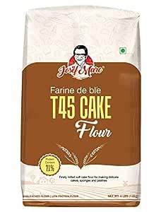 JOSEF MARC Farine De Ble T45 Cake Flour, 4 LBS - Unbleached & Low Protein Flour, All Purpose Cake Flour.