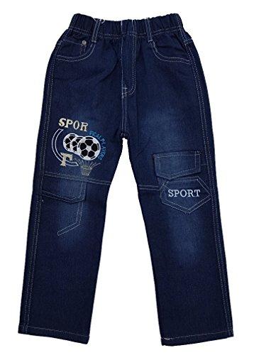 Bequeme Jungen Jeans mit rundum Gummizug in blau, Gr. 92/98 J55.2e