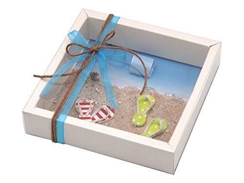 ZauberDeko Geldgeschenk Verpackung Reise Urlaub Badesandalen Zehentrenner Strand Meer Strandurlaub Geburtstag